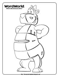 WordWorld 1: Free Disney Coloring Sheets   Fantasy Coloring Pages