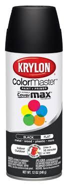 Krylon Spray Paint Color Chart Krylon K05160202 Colormaster Paint Primer Flat Black 12 Oz