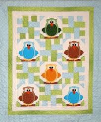 Baby & Kids Wall Quilt Patterns - The Hoots! Owl Baby Quilt ... & Baby & Kids Wall Quilt Patterns - The Hoots! Owl Baby Quilt Pattern |  applique | Pinterest | Owl baby quilts, Baby quilt patterns and Owl Adamdwight.com