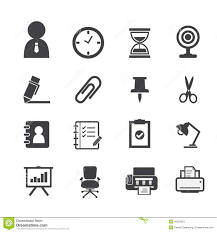 resume Resume Symbols business icons and office stock vector image 45564651  royalty free vector