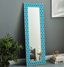 bone inlay honeycomb floor mirror