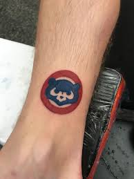 Chicago Cubs Circle Logo Tattoo Chicago Tattoos Fish Tattoos