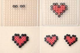 Mini Perler Bead Patterns Best Make Perler Bead Heart Hair Clips Patterns For Little Girls 48 Steps