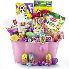bunny delight easter chocolate basket delivery canaurmet gift basket