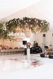 beautiful hanging fl canopy wreath for wedding