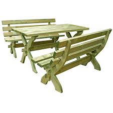 forest garden sleeper bench and refectory table set view larger sc 1 st asuntospublicos