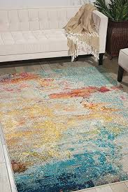 watercolor area rug. Nourison Celestial Modern Watercolor Area Rug, 6\u00277\u0026quot; X 9\u00277\u0026quot; Rug T