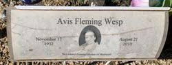Avis Fleming Wesp (1932-2010) - Find A Grave Memorial
