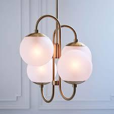 west elm lighting. pelle asymmetrical chandelier 4light west elm lighting