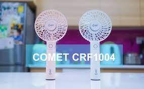 Trên tay quạt sạc cầm tay Comet CRF1004, giá 390 nghìn, bảo hành 1 năm,  hoàn thiện đẹp, quạt mát