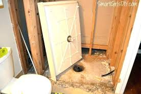 replace shower floor drain how to tile a shower floor without a pan installing shower over