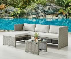 grey rattan garden furniture sets 4