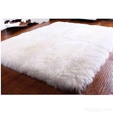 ustide luxury australian sheepskin rug pad white wool rug square super soft living room rug modern bedroom area rugs
