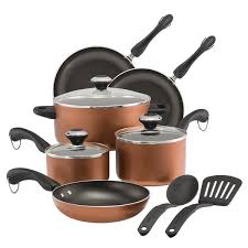 pots and pans in dishwasher. Simple Pans Paula Deen Dishwasher Safe Nonstick Cookware Set 11Piece Copper Inside Pots And Pans In E