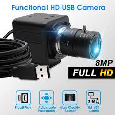 ELP ücretsiz sürücü IMX179 8mp CS 2.8 12mm varifocal usb güvenlik kamerası  için endüstriyel makine görüş|Tüketici Kameraları