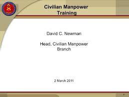 Civilian Manpower Training Powerpoint Marine Corps Base