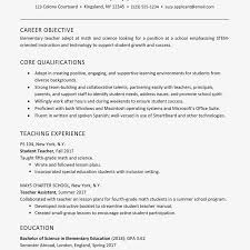 Resume Objective For Internship Sample Education Resume For A Teaching Internship