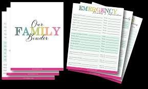 Free Printable Binder Templates Family Emergency Binder Free Printables To Create Your Own