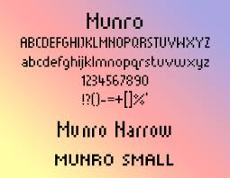 free pixel perfect fonts for 8 bit designs munro