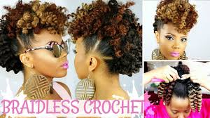 Mo Hock Hair Style braidless crochet no cornrows curly crochet faux hawk tutorial 6137 by stevesalt.us