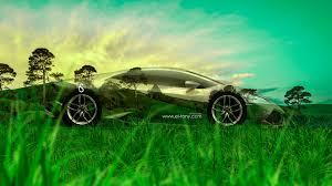 lamborghini huracan crystal nature car