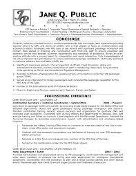 Concierge Resume Samplehtml Free Resume Templates