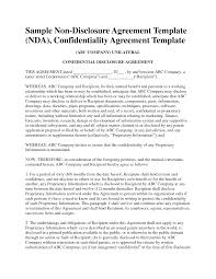 Business Confidentiality Agreement Sample Non Disclosure Agreement Template Free Sample Nda Template Mvrsqrn 17