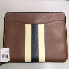 coach leather portfolio doent folder luxury accessories on carou