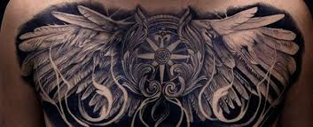 chest tattoo designs.  Tattoo Wing Chest Tattoo Designs For Men To C