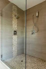 spa bathroom showers: spa shower love this rock with the other tile