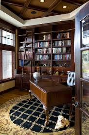 Image Office Space Houzz Library Office Traditional Home Office Library