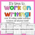 Writing work for kindergarten