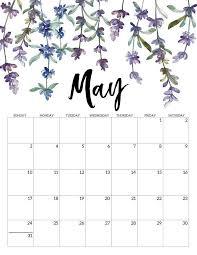 Calendar May 2020 2020 Free Printable Calendar Floral Free Printable
