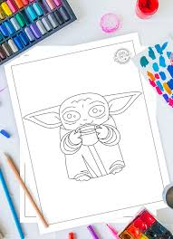Select from 35450 printable crafts of cartoons, nature, animals, bible and many more. The Most Adorable Baby Yoda Coloring Pages For Kids