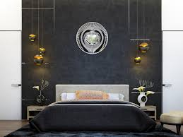 Feature Wall Black And White Bedroom Wallpaper