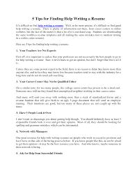 Help Writing A Resume Help Writing A Resume Therpgmovie 1