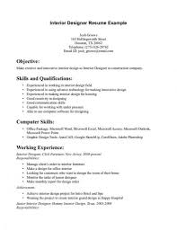 Interior Designer Sample Resume Sample Resume Of Interior Designer interior design resume samples 14