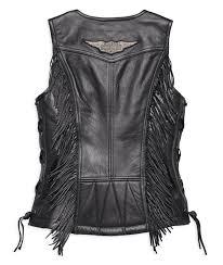 h d motorclothes harley davidson women s leather vest boone fringed 98014 18vw
