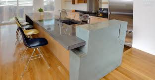 concrete kitchen island countertop