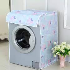 Áo Trùm Máy Giặt Cửa Ngang Vải Dù Size 9 - 10kg Họa Tiết Bông - Kara House