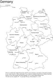 Printable Map Of Germany Coloring Kids