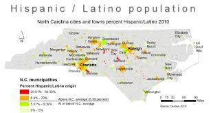 North Carolina Population Chart Hispanics In N C Big Numbers In Small Towns Unc