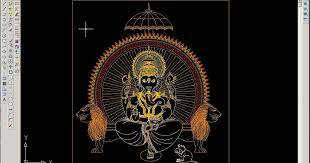 readers contributions a wonderful lord ganesha drawing in autocad bricks n mortar com