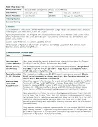 Business Meeting Notes Template The Best Meeting Minutes Templates