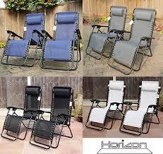 set of 2 reclining sun loungers gravity
