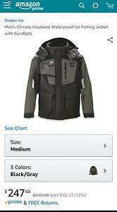 Details About Striker Ice Climate Jacket Grey Black Medium