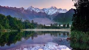 Mountain lake in New Zealand wallpaper ...