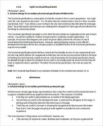 Functional Requirement Document Sample 6 Examples In Word