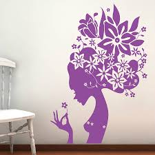 wall flower stickers for girls photo 1