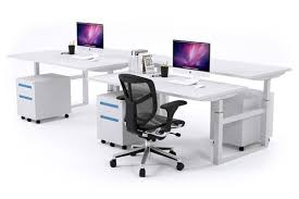 person office desk. Sit-Stand - 4 Person Workstation Electric Height Adjustable Stand-up [1200L X Office Desk L